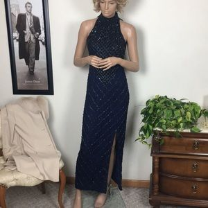 Laurence Kazar Of New York Beaded Gown